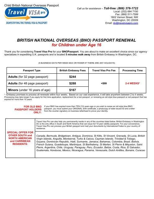 BRITISH NATIONAL OVERSEAS (BNO     - Travel Visa Pro