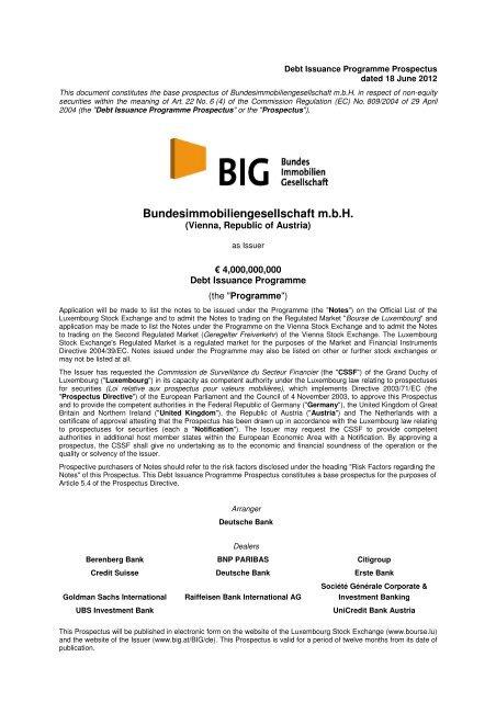Bundesimmobiliengesellschaft M B H Big