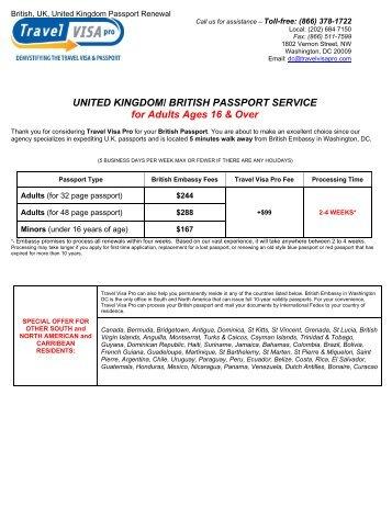 UNITED KINGDOM/ BRITISH PASSPORT ... - Travel Visa Pro