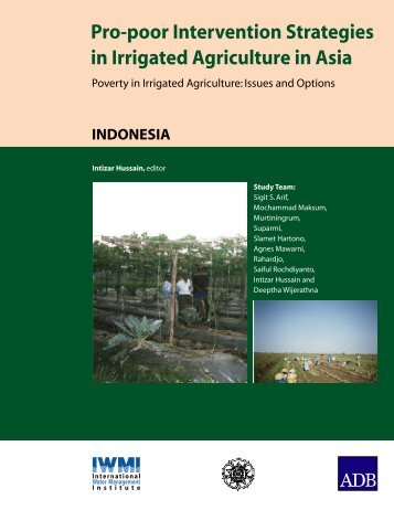 Pro-poor Intervention Strategies in Irrigated Agriculture in Asia
