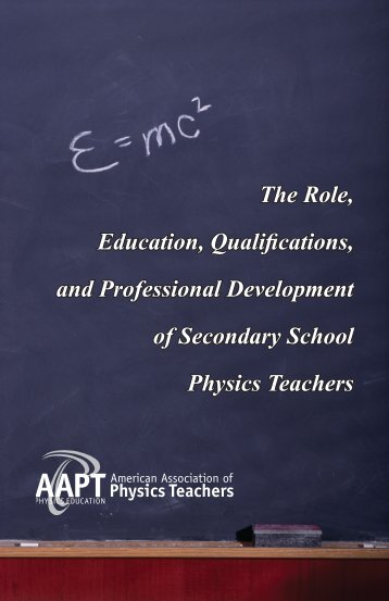 The Role, Education, Qualifications, and Professional Development ...
