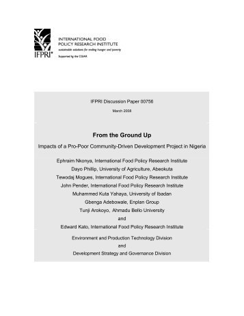 From the Ground Up: Impacts of Pro - International Food Policy ...