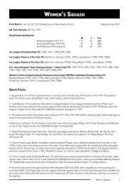 WOMENLS SQUASH - Princeton Athletics