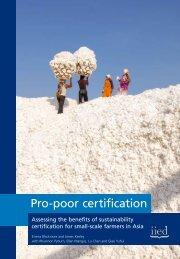 Pro-poor certification - European Fair Trade Association