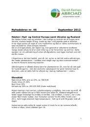 Nyhedsbrev nr. 46 September 2012 - Danish Farmers Abroad