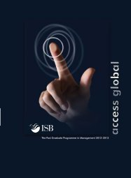 The Post Graduate Programme in Management 2012