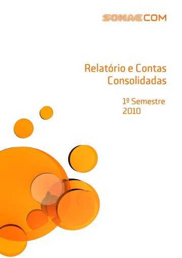 Sonaecom - SGPS, SA, publica Relatório e Contas relativo - CMVM
