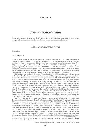 Creación musical chilena - SciELO