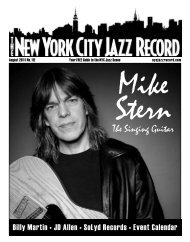 August 2011 - The New York City Jazz Record