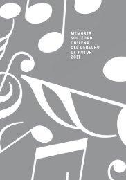 memoria sociedad chilena del derecho de autor 2011 - SCD