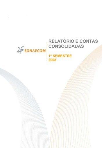 SONAECOM - SGPS, SA publica Relatório e Contas relativo - CMVM