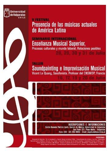 Afiche Taller Seminario Conciertos - Universidad de Valparaíso