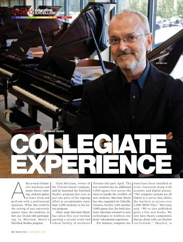 collegiate experience - Music Inc. Magazine