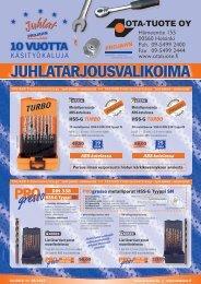 Projahn-juhlatarjoukset - Ota-Tuote Oy