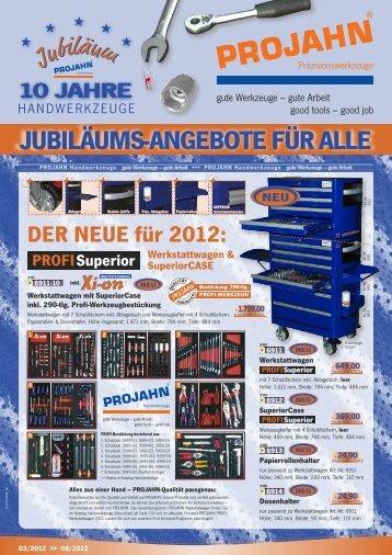 Projahn Werkzeug Aktion 2012 - Endler Industriebedarf