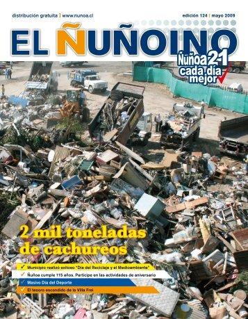 2 mil toneladas de cachureos - Municipalidad de Ñuñoa