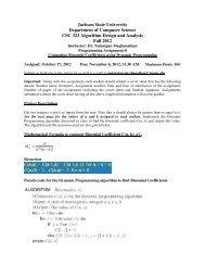 Computing Binomial Coefficients using Dynamic Programming