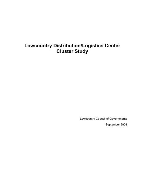 Lowcountry Distribution/Logistics Center Cluster Study