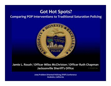 Got Hot Spots? - Center for Problem-Oriented Policing