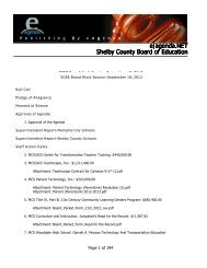 e agenda.NET Shelby County Board of Education