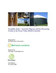 Feasibility Study – Anaerobic Digester and Gas ... - LifeSciences BC