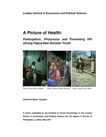 A Picture of Health: A Picture of Health: - LSE Theses Online