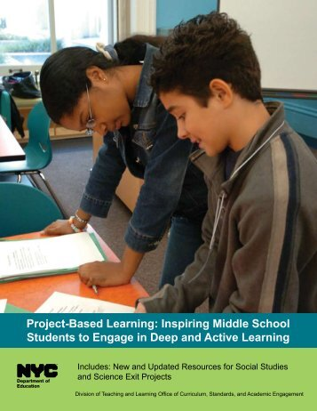 Project-Based Learning: Inspiring Middle School Students to ...