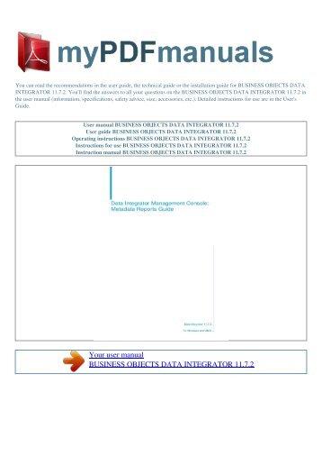exam dmdi301 title business objects data exam1pass rh yumpu com sap business objects user guides sap business objects user guides