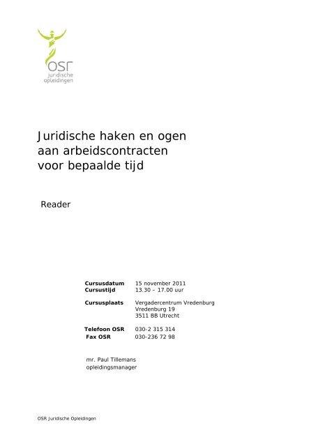 85322b8e6a3 Juridische haken en ogen aan arbeidscontracten voor bepaalde tijd