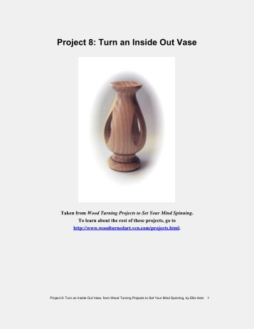 Project 8: Turn an Inside Out Vase, from Wood Turning Projects to ...