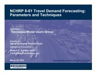 NCHRP 8-61 Travel Demand Forecasting: Parameters and ...