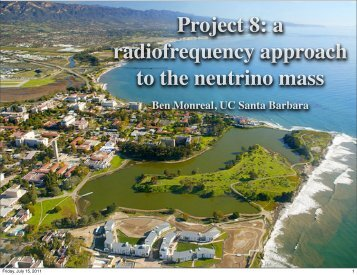 Project 8: a radiofrequency approach to the neutrino mass