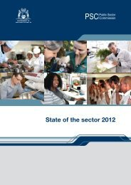 State of the sector 2012 - Public Sector Commission - The Western ...