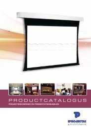 Projecta Product Catalogus 2012 NL - Epatra