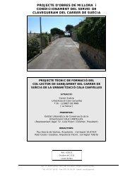 PROJECTE D'OBRES DE MILLORA i CONDICIONAMENT DEL ...