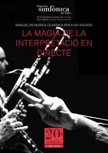 Manual de música clàssica per a no iniciats - Orquestra Simfònica ...