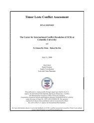 Timor Leste Conflict Assessment 2004 - Center for International ...