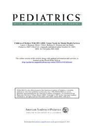 Children of Mothers With HIV/AIDS: Unmet Needs for ... - Pediatrics