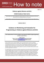 How to note: violence against women and girls: Monitoring ... - DfID