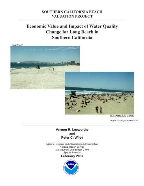 Southern California Beach Valuation Project - NOAA's Spatial