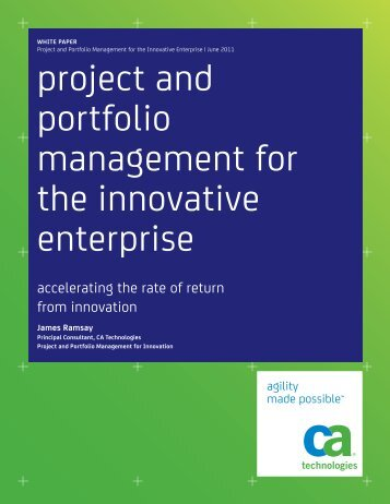 project and portfolio management for the ... - CA Technologies