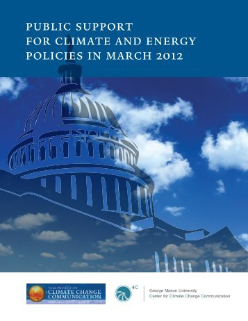 public support for climate and energy policies in march 2012