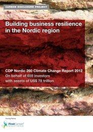 Nordic 260 Climate Change Report - Carbon Disclosure Project