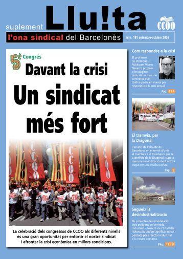 191. Ona sindical   setembre - CCOO de Catalunya