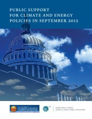 public support for climate and energy policies in september 2012