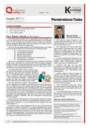 Kosten und Nutzen von Penetrationstests - Software Quality Lab