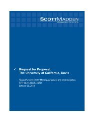 Request for Proposal: The University of California, Davis