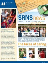 The faces of caring - Savannah River Nuclear Solutions