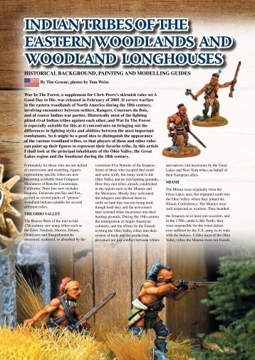 INDIAN TRIBES OF THE EASTERN wOODLANDS ... - Flames of War