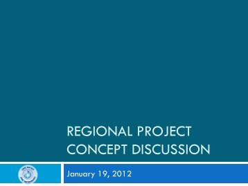 REGIONAL PROJECT CONCEPT DISCUSSION - sawpa